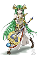 Sketch request: Palutena by MykeGreywolf