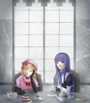 Lambdadelta and Bernkastel - Tea Time by MandyKurosaki