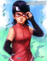 Uchiha Sarada by Mark-Clark-II
