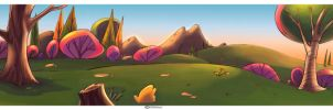 Land scape Cartoon color 3 by celaoxxx