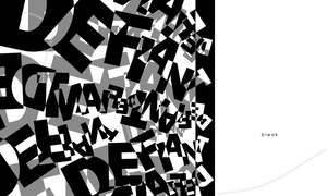 Typography Composition -Black and White- by Noidatron