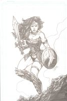 Wonder Woman (pencils) by yosarian13