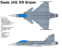 Saab JAS 39 Gripen by bagera3005