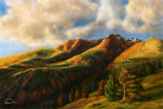 Sunny mountain by abyss1956