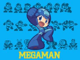 Megaman Wall by Maha-miau