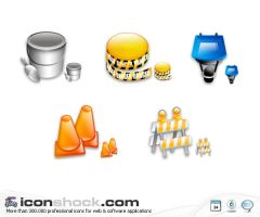 Construction vista icons by Iconshock