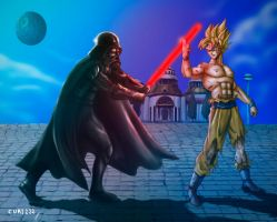 Darth Vader Vs Son Goku by curi222