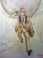 America as Indiana Jones by theEmperorofShadows