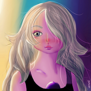 Amethyst - Real/Human Style by LeticiaYumi