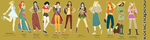 Modernized Disney Princesses by KohiChapeau