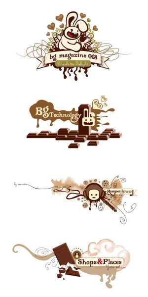 chocolate logos outline