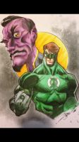 Hal Jordan and Sinestro Copics by FlatsNColors