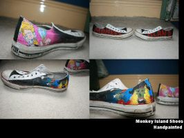 Monkey Island Shoes by TheEpilogueOfLife