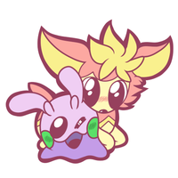Goomy and Deerling by ChatotLover448
