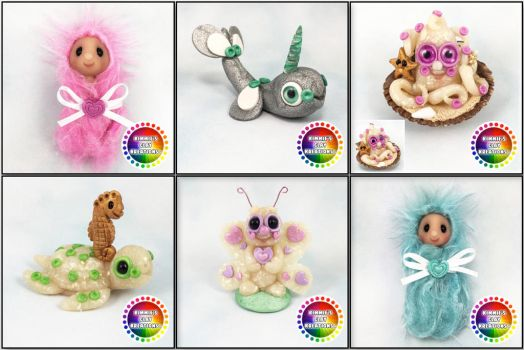 Polymer Clay Cuties by KIMMIESCLAYKREATIONS