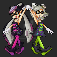 Splatoon: Callie and Marie by Kamira-Exe