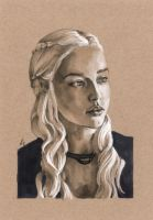 Daenerys on Toned Paper 1 by AllisonSohn