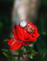 Ring O' Roses - Crocheted Ring by WrappedbyDesign