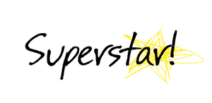 Texto png SuperStar! by Jazminswag-Editions