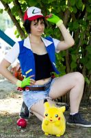 Gotta catch'em all - Ash cosplay Pokemon by ely707