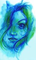 Watercolours face by Bisho-s