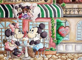Love Cafe: Mickey and Minnie by Pyonni