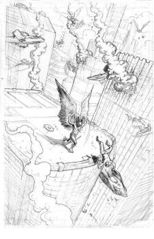 Hawkman Page 2 Pencils by craigcermak
