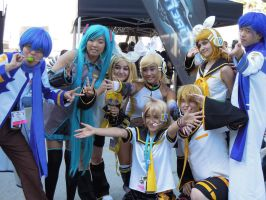 Vocaloid Group at Anime Expo 2012 by LovingLen4Life
