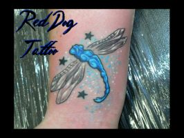 Dragonfly Tattoo by Reddogtattoo