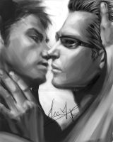 Chris X Wesker by xiaofeihui