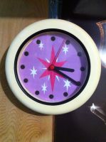 Twilight sparkle cutie mark clock by biohazardben