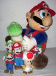 Super Mario Nintendo Plush Collection 2012 by kratosisy