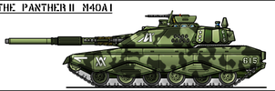M40A1 Panther II MBT by sharp-n-pointy