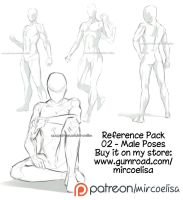 References pack - Male poses by MircoGravina