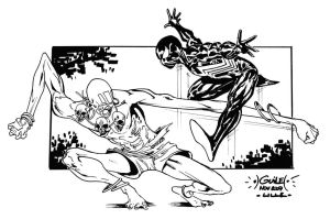 Dhalsim vs Spider-Man by SpiderGuile