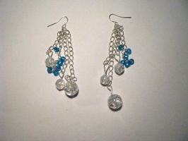 earrings - blue by Sizhiven
