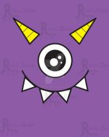 Purple One Eye Monster by TheRootsOfDesign