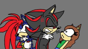 Shadic, Shadow and Victoria I'm sorry Shadow by victoriame