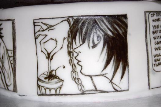 death note cake L by sydney96