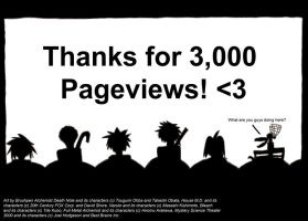 Thanks for 3,000 Pageviews by VicodinFlavoredMints
