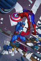 Captain America vs Spiderman by xhadowlx