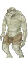 Orc male, coloured (study for a RPG) by GarmrKiDar