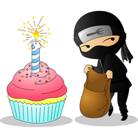 B-day Ninja for Audreyboo222 by Nashiil