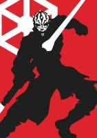 darth maul sillouette by goth-thug