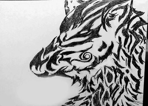 Tribal Wolf by BrainEater0