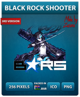 Black Rock Shooter Ver.3 - Anime Icon by Zazuma