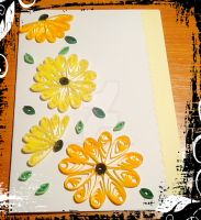 Quilled sunflowers card by YoyoTheMadScientist