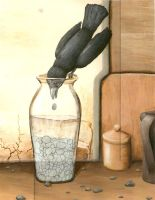The Crow and the Pitcher by flyingpenguin