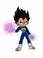 Chibi Vegeta using Ki by delvallejoel
