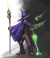 Day 1 - Dark Mage by JunTan